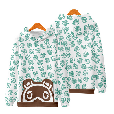 Soft Long Sleeves Leaf Hoodie