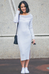 Louise Knit Dress (Grey)