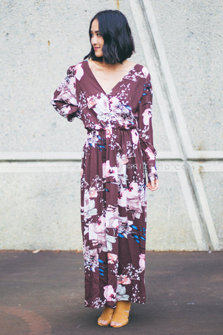 Angelica L/S Maxi Dress