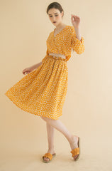 Haylee Ruched Skirt Yellow