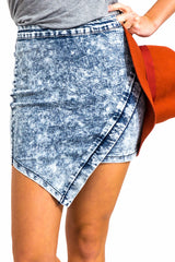 Bridge Denim Skirt