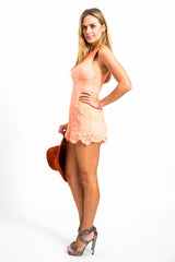 Tangelo Lace Playsuit