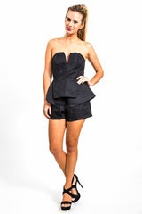 Pia Peplum Playsuit
