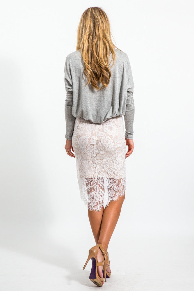 Chiswick Lace Skirt // White