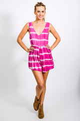 Avoca Tides Playsuit in Magenta