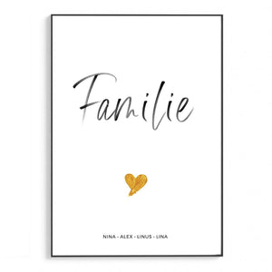 Familie gold | Personalisiert