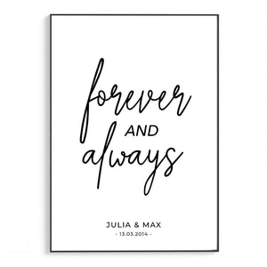 Forever and Always | Personalisiert