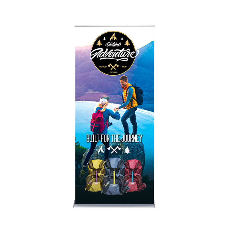 "36"" Best Roll Up Silver Banner"