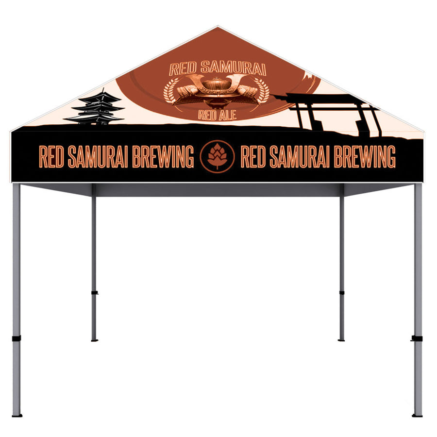 10 ft. Aluminum Canopy Tent Dye-Sub Graphic Package - CUSTOM