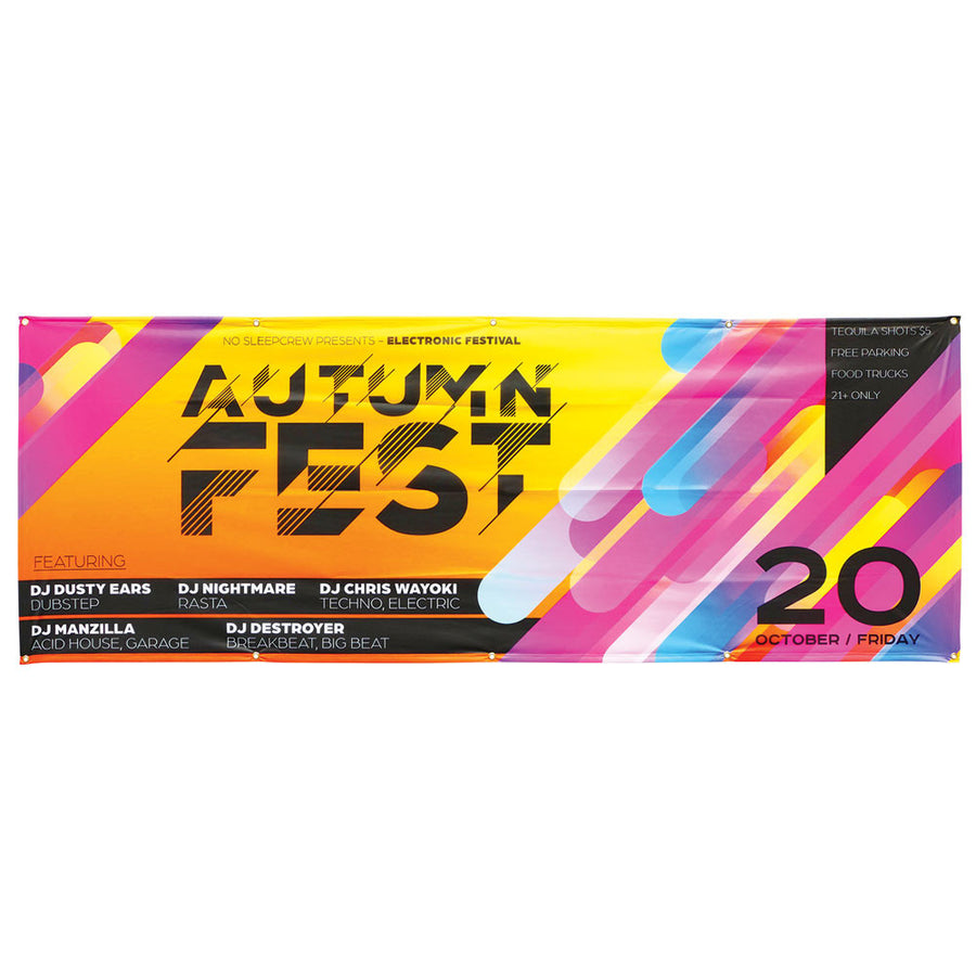 8 feet x 3 feet outdoor mesh banner