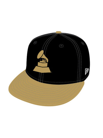 56th GRAMMY 2 Tone Logo Fitted Cap Gold Visor