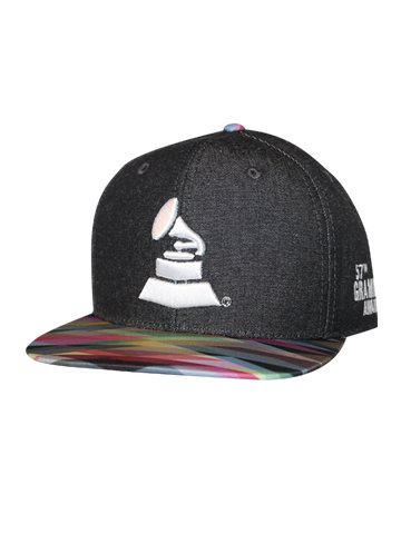 57th GRAMMYs Denim Geo Pattern Bill Cap
