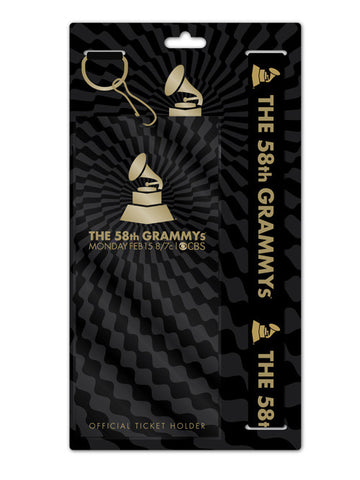 58th GRAMMYs Lanyard With Pouch Card