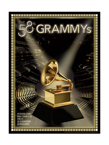 58th GRAMMYs 2016 Poster
