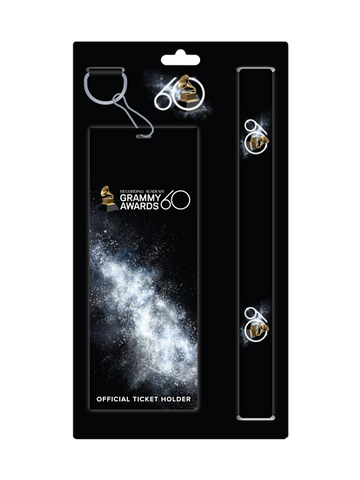 60th GRAMMYs Lanyard & Ticket Holder