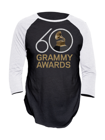 60th GRAMMYs Baseball Raglan