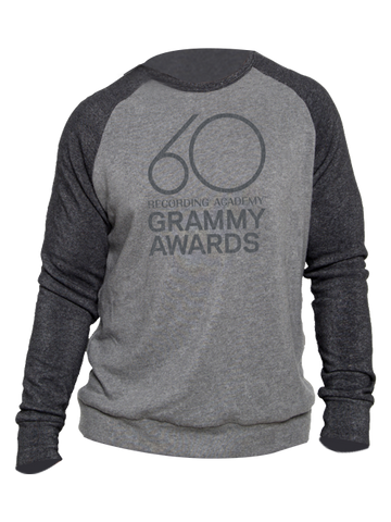 60th GRAMMYs Contrast Old School Raglan