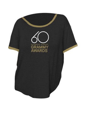 60th GRAMMYs Women's Vintage Relaxed Ringer T-Shirt