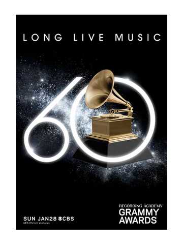 60TH GRAMMYs Diamond Poster