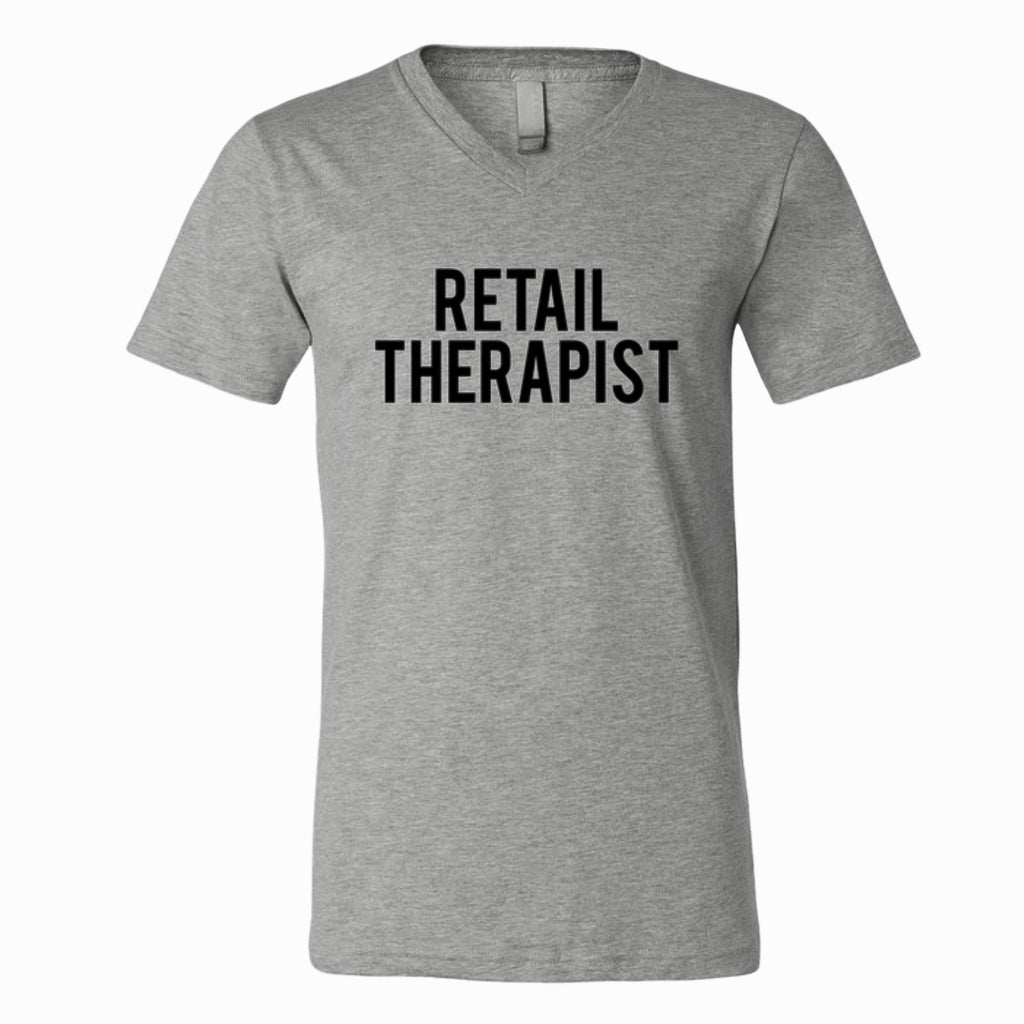 RETAIL THERAPIST V-NECK TEE