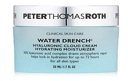 ($52 Value) Peter Thomas Roth Water Drench Hyaluronic Cloud Cream Hydrating Face Moisturizer, 1.7 Oz