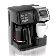 Load image into Gallery viewer, Hamilton Beach FlexBrew 2-Way Coffee Maker, Single Serve and Full Coffee Pot, Compatible with Single Serve Pods or Ground Coffee, Programmable, Model 49954