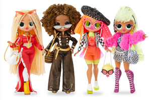 4 Pack - L.O.L. Surprise! O.M.G. Fashion Dolls Swag, Lady Diva, Neonlicious, Royal Bee - LOL Surprise OMG Complete Set 4 Dolls