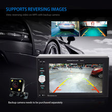 "Load image into Gallery viewer, 2 din 6.2"" Universal Car Multimedia Player Audio Stereo Radio Touch Screen Video MP5 Player Rear View Backup Camera Support Bluetooth TF USB FM , included Backup Camera"