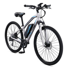 Load image into Gallery viewer, Schwinn Sycamore Electric 350 Watt Hub-Drive 8-Speed Mountain/Hybrid Electric Bicycle, Women's, Small, Silver