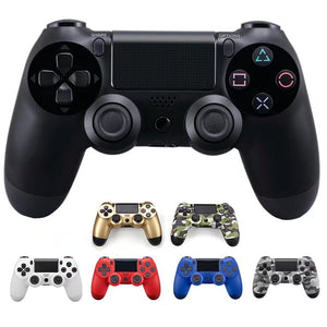 Black PS4 Wireless Vibrate Game Controller Handle Dual Double Shock for PS4 8 Colors (Black)