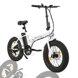 "Folding 20"" Fat Tire Electric Bike 500W Hill Bicycle Removable Battery Pedal Assist Power"