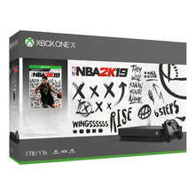 Load image into Gallery viewer, Microsoft Xbox One X 1TB NBA 2K19 Bundle, Black, CYV-00070