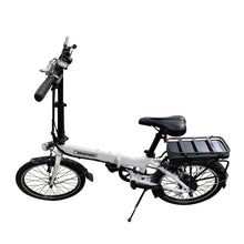 Load image into Gallery viewer, Bikemate Folding Electric Bike For Adults, 2 Modes Electric Bicycle 250W Black & White
