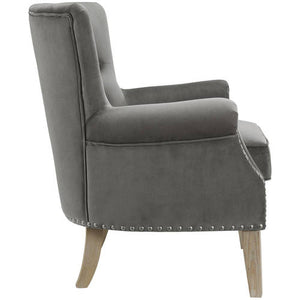 Better Homes & Gardens Accent Chair, Living Room & Home Office, Gray