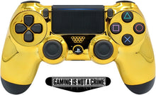 Load image into Gallery viewer, Gold face Ps4 Custom UN-MODDED Controller Exclusive Unique Design