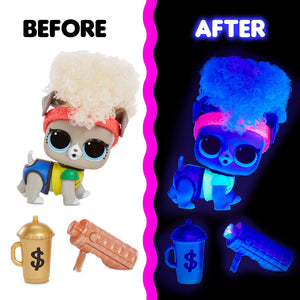 PAR TOY CO - LOL Surprise Lights Pets Doll with 8 Surprises Including Black Light Surprises