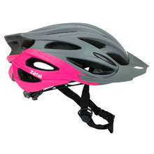 Load image into Gallery viewer, Zefal Women's Pro Gray Pink Bike Helmet (Universal Dial, 24 Large Vents, Ages 14+)