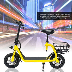 CHO Mini Electric Bike Bicycle 12 Miles Range Rechargeable Battery