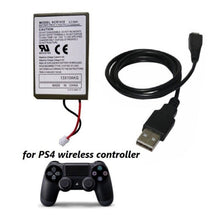 Load image into Gallery viewer, 3.7V 2000mAh Rechargeable Battery Pack USB Charger Cable For Sony Gamepad for PS4 Battery For PS4 Wireless Controller