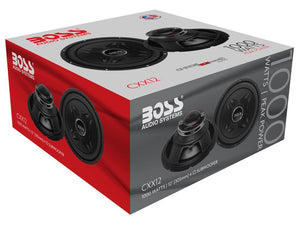 "New Boss CXX12 12"" 1000 Watt 32Hz 4-Ohm Black Car Stereo Audio Power Subwoofer"