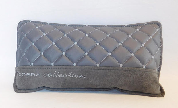 VIP Grey & Silver Diamond Car Pillows Interior Set