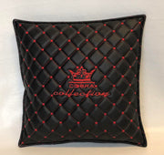 VIP Black & Red Diamond Car Pillows Interior Set