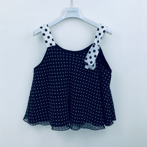 Top nero micro-pois
