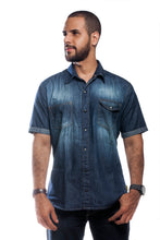 Load image into Gallery viewer, BFC DENIM SHORT SLEEVE SHIRT | DEEP INDIGO