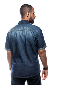 BFC DENIM SHORT SLEEVE SHIRT | DEEP INDIGO
