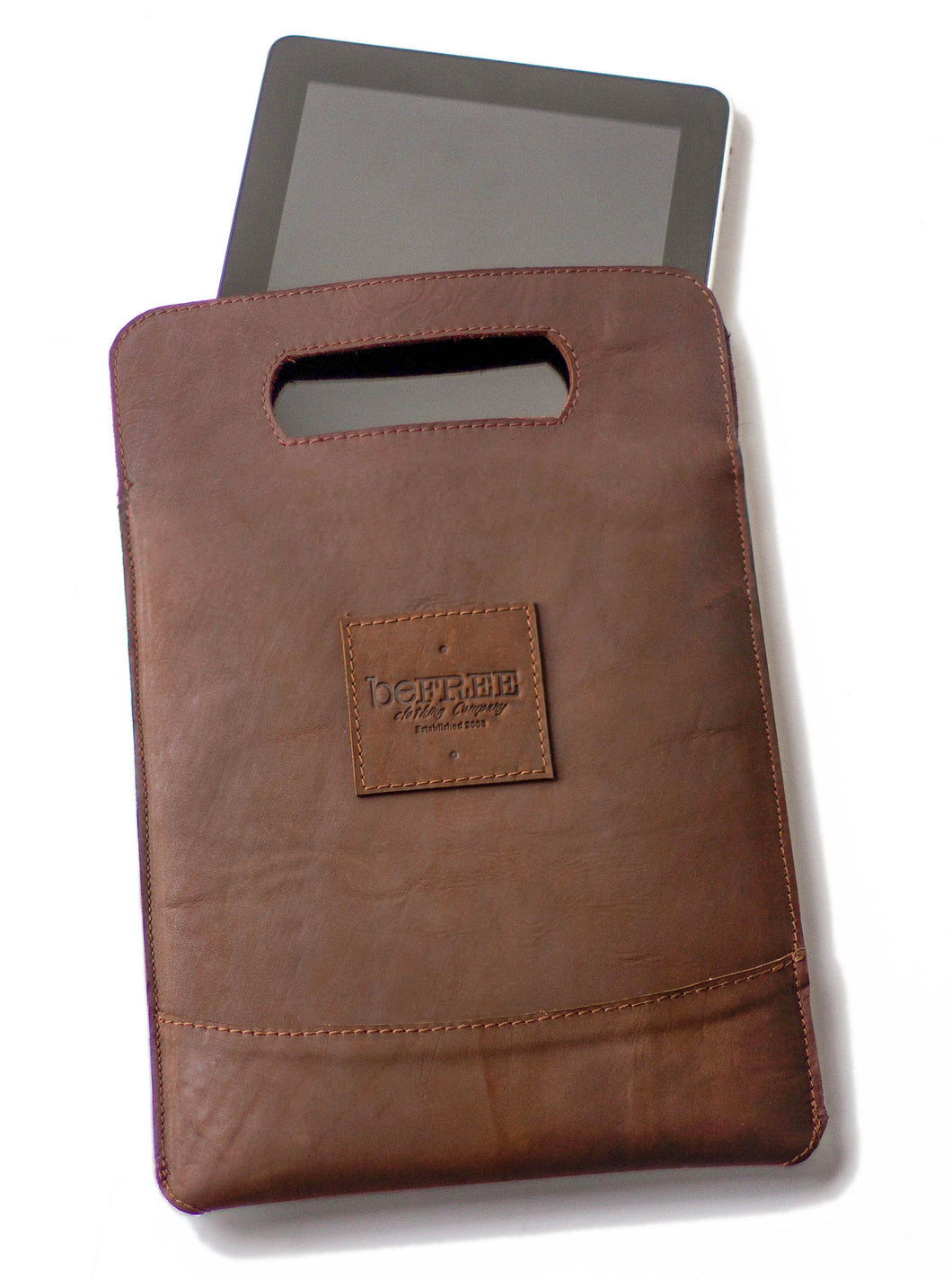 IPAD HOLDER | SUSTAINABLE DISTRESSED LEATHER