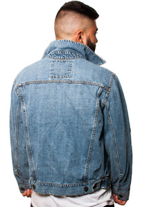 BFC DENIM JACKET | DISTRESSED INDIGO