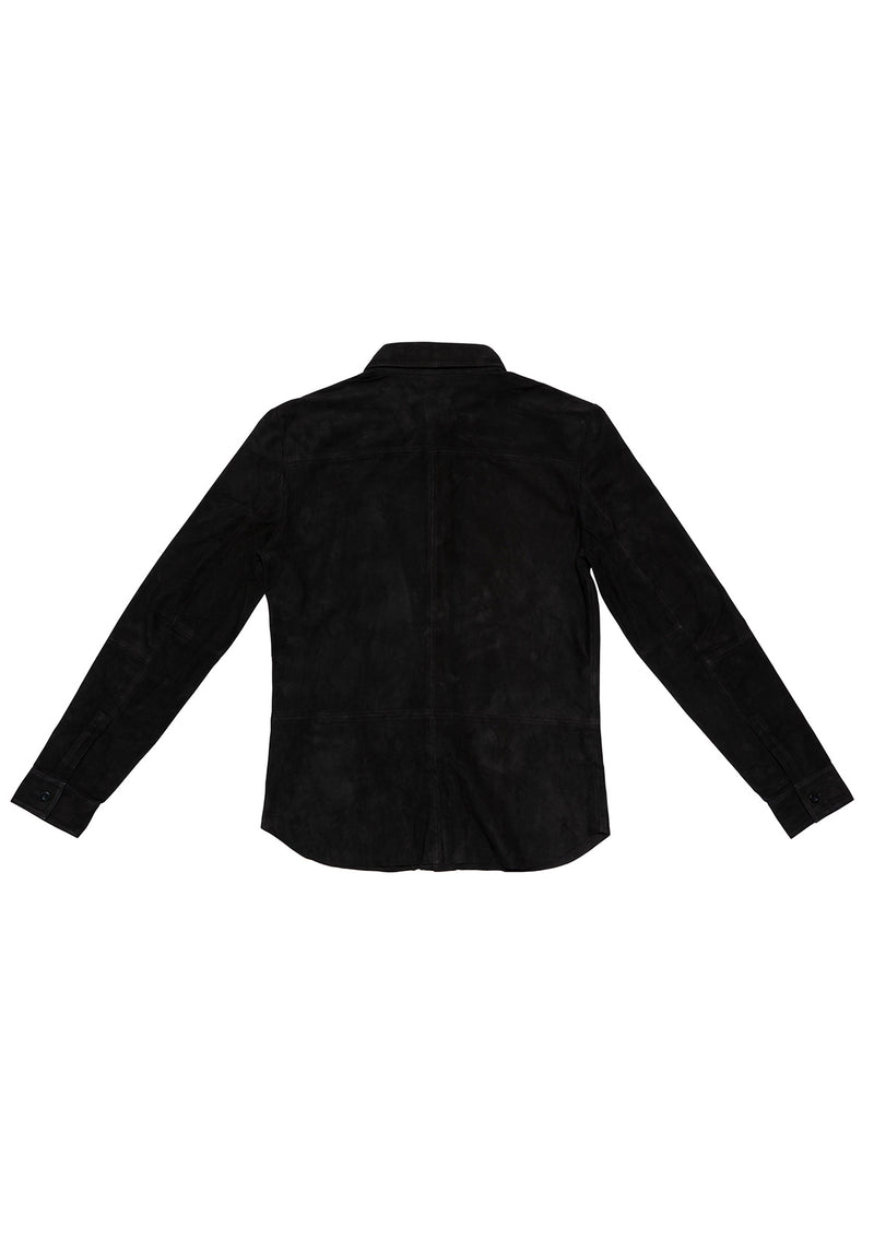 LEATHER SHIRT 5 BLACK