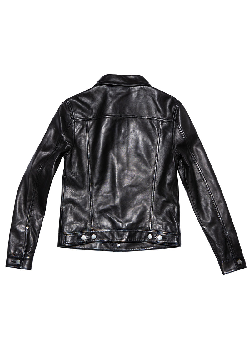 LEATHER JEANS JACKET 25 BLACK