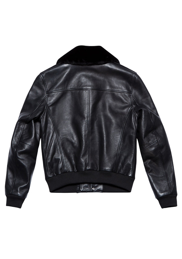 LEATHER JACKET 90 BLACK